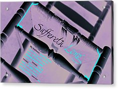 Suffereth Long Acrylic Print by Affini Woodley