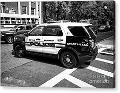 suffolk university campus police patrol vehicle Boston USA Acrylic Print