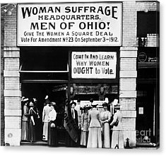 Suffrage Headquarters Acrylic Print by Granger