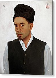 Sufi With Astrakhan Hat Acrylic Print