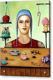 Sugar Addict Acrylic Print by Leah Saulnier The Painting Maniac