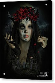 Acrylic Print featuring the digital art Sugar Doll Magic by Shanina Conway