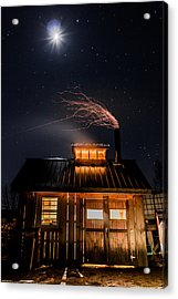 Sugar House At Night Acrylic Print