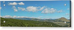 Acrylic Print featuring the photograph Sugar Magnolia Summer Rocky Mountain Peaks Panorama View by James BO Insogna
