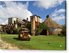 Sugar Mill And Truck Acrylic Print by Roger Mullenhour