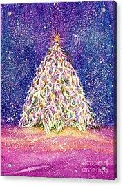 Sugar Plum Forest  - Christmas Tree Acrylic Print