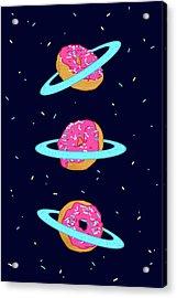 Sugar Rings Of Saturn Acrylic Print by Evgenia Chuvardina