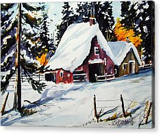 Sugar Shack At Grande Mere Acrylic Print by Wilfred McOstrich