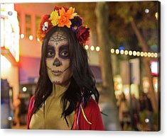 Acrylic Print featuring the photograph Sugar Skull by Lora Lee Chapman