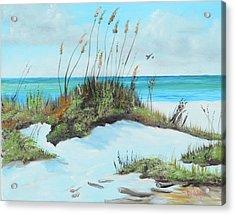 Sugar White Beach Acrylic Print