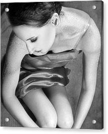 Sugared Skin 1 - Self Portrait Acrylic Print by Jaeda DeWalt