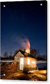 Sugaring Time Acrylic Print by Tim Kirchoff