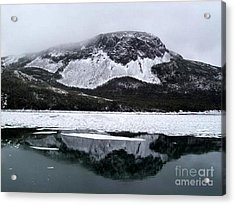 Sugarloaf Hill Reflections In Winter Acrylic Print by Barbara Griffin