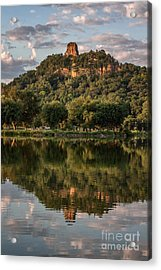 Sugarloaf Reflection Winona Acrylic Print by Kari Yearous