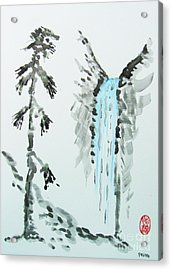 Acrylic Print featuring the painting Sugi To Taki by Roberto Prusso