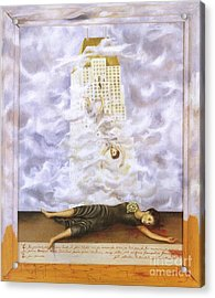 Suicide Of Dorothy Hale Acrylic Print by Frida Kahlo