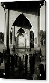 Suislaw River Bridge In Florence Oregon Acrylic Print