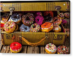 Suitcase Full Of Donuts Acrylic Print by Garry Gay