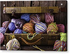 Suitcase Full Of Yarn Acrylic Print