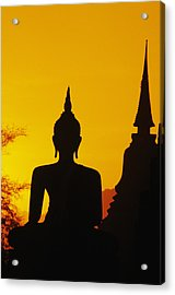Sukhothai Temple Acrylic Print by Gloria & Richard Maschmeyer - Printscapes