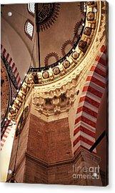 Suleymaniye Architecture Acrylic Print by John Rizzuto