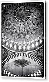 Suleymaniye Ceiling Acrylic Print by John Rizzuto