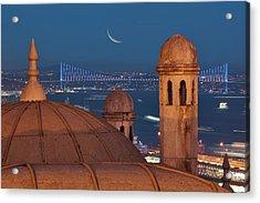 Suleymaniye Acrylic Print by Salvator Barki