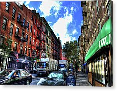 Sullivan Street In Greenwich Village Acrylic Print by Randy Aveille