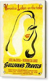 Sullivans Travels, Veronica Lake Acrylic Print by Everett
