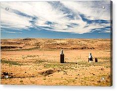 Sulphur Grain Elevators Acrylic Print by Todd Klassy