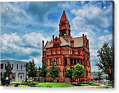 Sulphur Springs Courthouse Acrylic Print by Diana Mary Sharpton