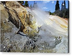 Sulphur Works - Lassen Volcanic National Park Acrylic Print by Christine Till