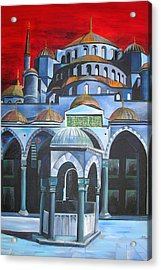 Sultan Ahmed Mosque Istanbul Acrylic Print by Tracey Harrington-Simpson