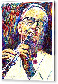Sultan Of Swing - Benny Goodman Acrylic Print by David Lloyd Glover