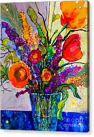 Acrylic Print featuring the painting Summer Arrangement by Priti Lathia