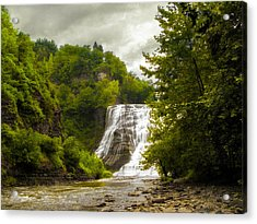 Summer At Ithaca Falls Acrylic Print by Jessica Jenney