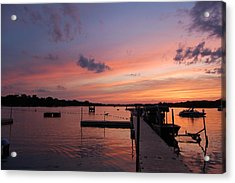 Summer At The Lake Acrylic Print by Daniel Ness