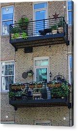 Summer Balconies In Chicago Illinois Acrylic Print