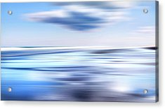 Summer Beach Blues Acrylic Print by Bill Wakeley
