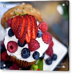 Summer Berries And Cream Acrylic Print