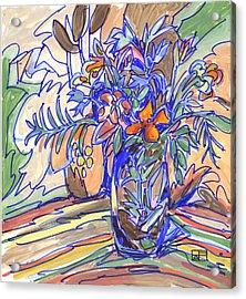 Summer Bouquet Acrylic Print by Helen Pisarek