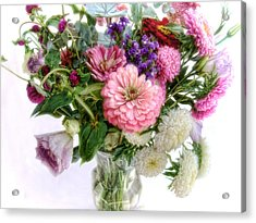 Acrylic Print featuring the photograph Summer Bouquet by Louise Kumpf