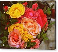 Summer Bouquet Acrylic Print by Marija Djedovic