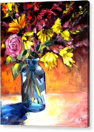 Summer Bouquet Acrylic Print by Paula Strother