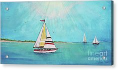 Acrylic Print featuring the painting Summer Breeze-b by Jean Plout