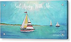 Acrylic Print featuring the painting Summer Breeze-c by Jean Plout
