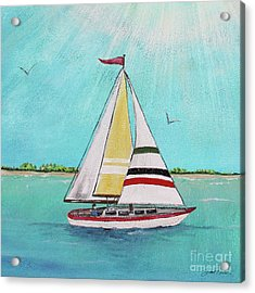 Acrylic Print featuring the painting Summer Breeze-d by Jean Plout