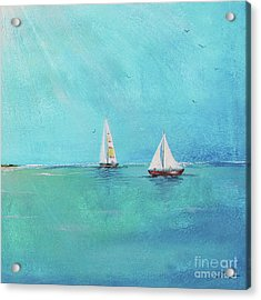 Acrylic Print featuring the painting Summer Breeze-e by Jean Plout