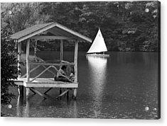 Summer Camp Black And White 1 Acrylic Print