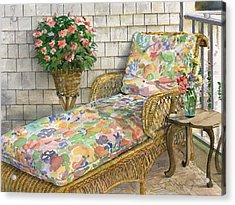 Summer Chaise Acrylic Print